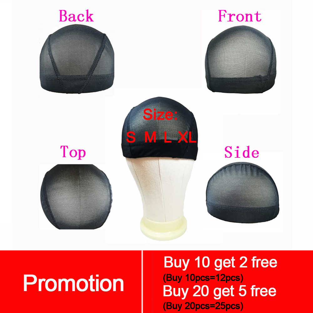 Spandex Dome tarzı Ultra streç peruk kap file şapka peruk yapmak için Spandex Net elastik bant ve file şapka