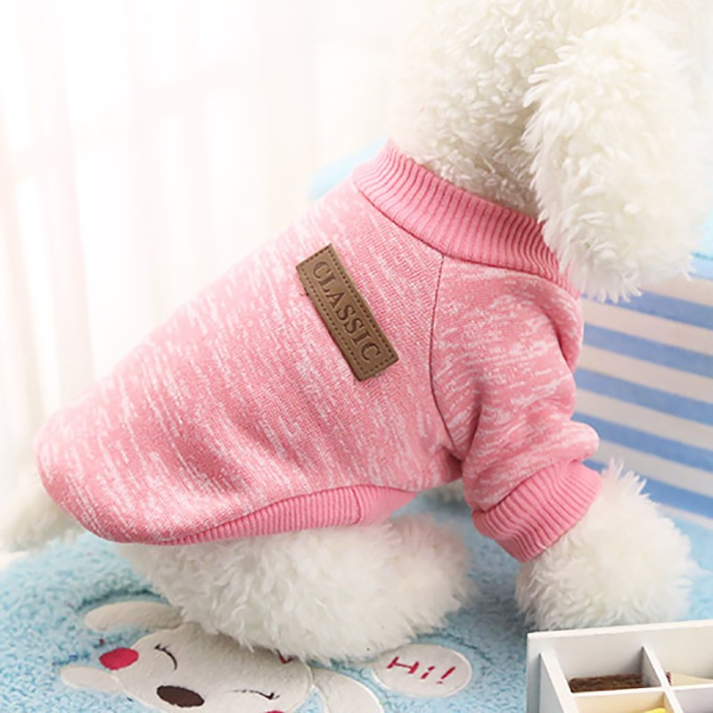 Autumn Winter Warm Dog Clothes For Small Medium Soft Dog Sweater Clothing Winter Chihuahua Clothes Classic Pet dog accessories (4)