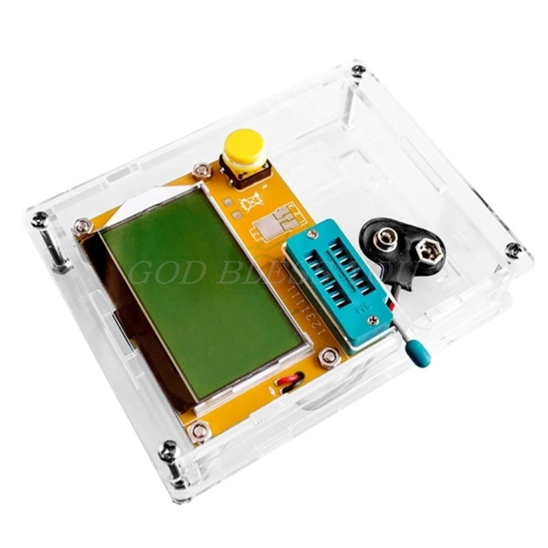 Transparent Acrylic Case Shell Box For LCR-T4 ESR Transistor Tester Capacitance Mar28