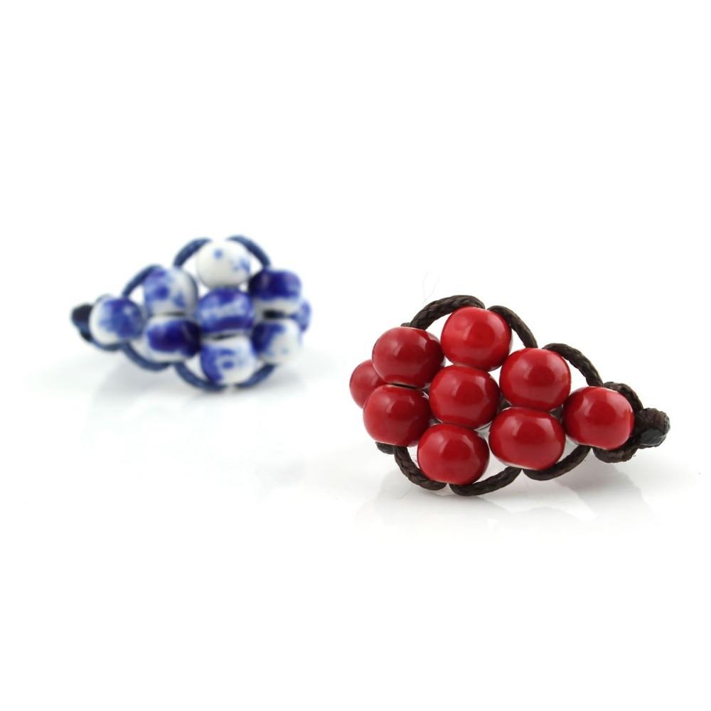 Simpul cina, Fashion perhiasan klasik, Merah / biru dan putih cincin - Perhiasan fashion - Foto 6