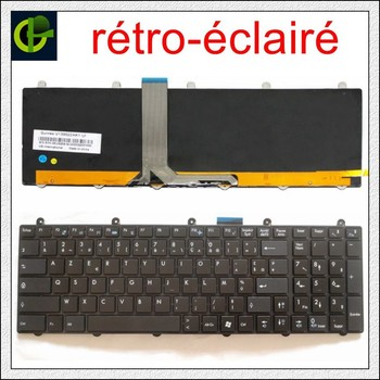 French Backlit Azerty Keyboard for MSI MS-16GA MS-16GB MS-16GC MS-16GD MS-16GE MS-16GF MS-16GH S1N-3EUS291 S1N-3EFR2P1-SA0 FR фото