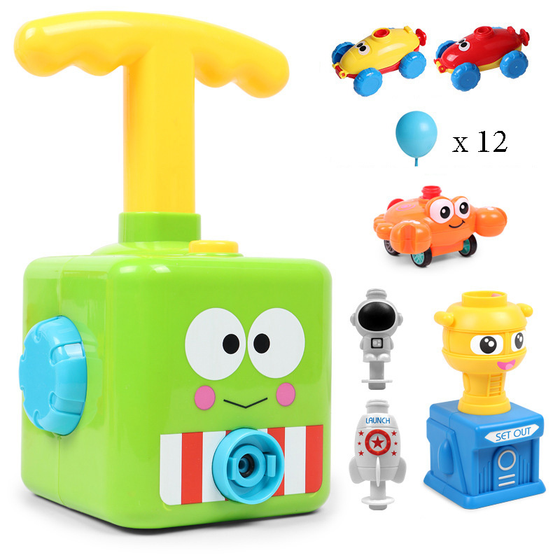 NEW Power Balloon Launch Tower Toy Puzzle Fun Education Inertia Air Power Balloon Car Science Experiment Toy for Children Gift