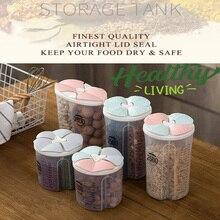 Здоровые контейнеры злаковое зерно сухая Емкость для хранения пищи прозрачная крышка Пластиковый корпус дропшиппинг