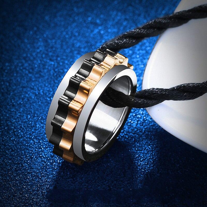 Metal Gear Ring For Men To Turn, Street Fashion Men's Ring For Self-defense