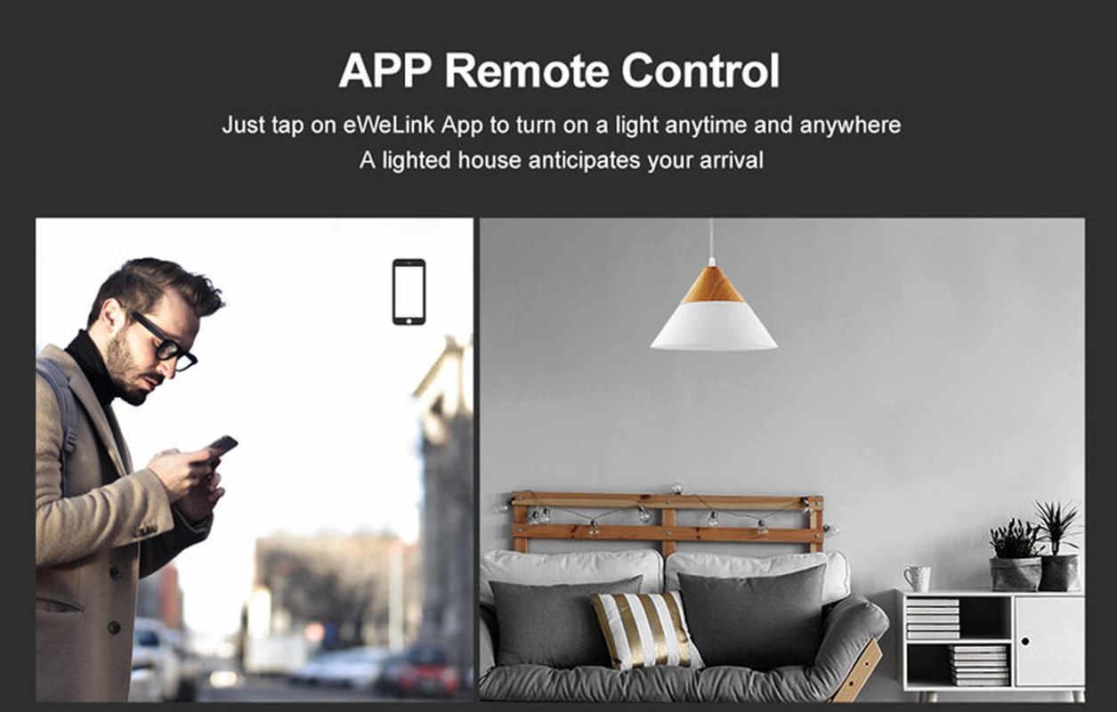 SONOFF T3 inteligentny przełącznik panel ue/UK/US typ 1/2/3 Gang współpracuje z Alexa Google domu 433mhz RF kontroli przez eWeLink dla Dropshipping