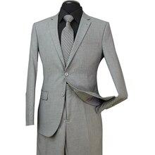 Дизайн в США мужские свадебные костюмы подходят из двух частей со штанами смокинги мода жениха Бизнес Карьера костюмы