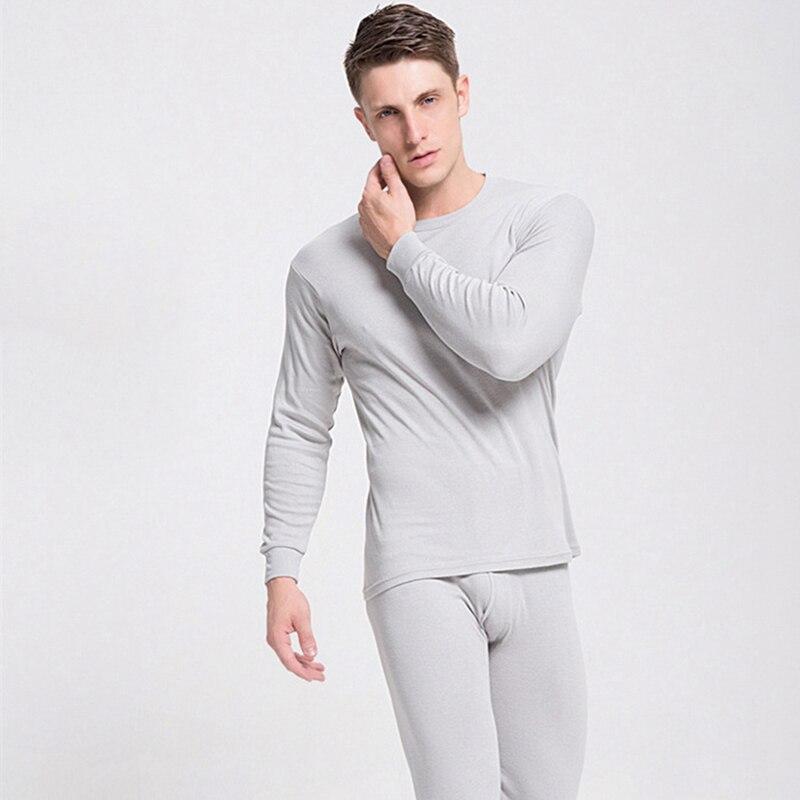 Мужское термобелье 2020, кальсоны, Мужские осенне-зимние топы и брюки, комплект из 2 предметов, сохраняющие тепло, толстые, большие размеры