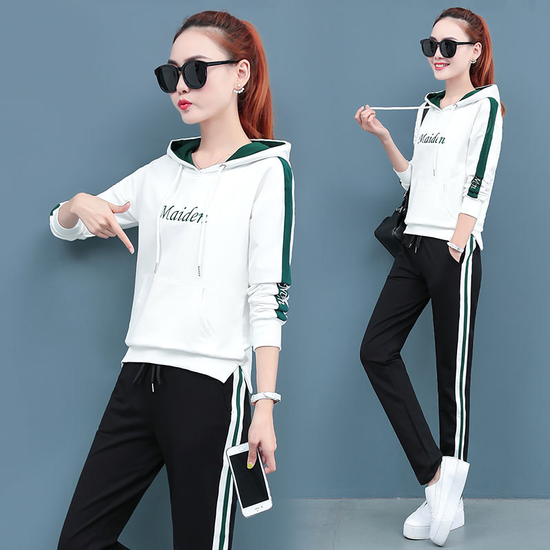 Mi Bao TWIPS With Cotton 2019 Autumn Clothing New Style Korean-style Fashion Casual Two-Piece Set Sports WOMEN'S Suit Autumn Tid