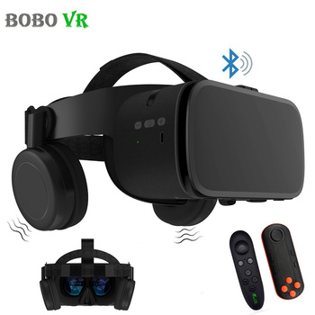 цена на BOBO VR Z6 Wireless Bluetooth 3D Glasses Virtual Reality for Smartphone Immersive Stereo VR Headset Cardboard For iPhone Android