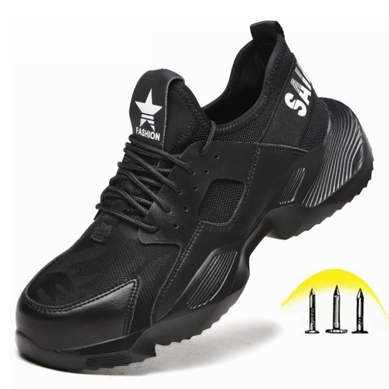 Steel Toe Cap Men Shoes for Work Puncture Proof Safety Shoes Boots Casual Working Footwear Sneakers Chaussures De Securite