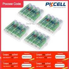 16Pcs Pkcell Aa Batterijen 1.2V 2200Mah Ni Mh Oplaadbare Batterij 2A Lsd Ni Mh Aa Verpakt Met 4 Stuks aa Batterij Opslag Houder/Doos