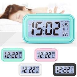 Электронные настольные часы, горячая Распродажа, большой светодиодный цифровой будильник, температурный дисплей для дома, офиса, путешеств...