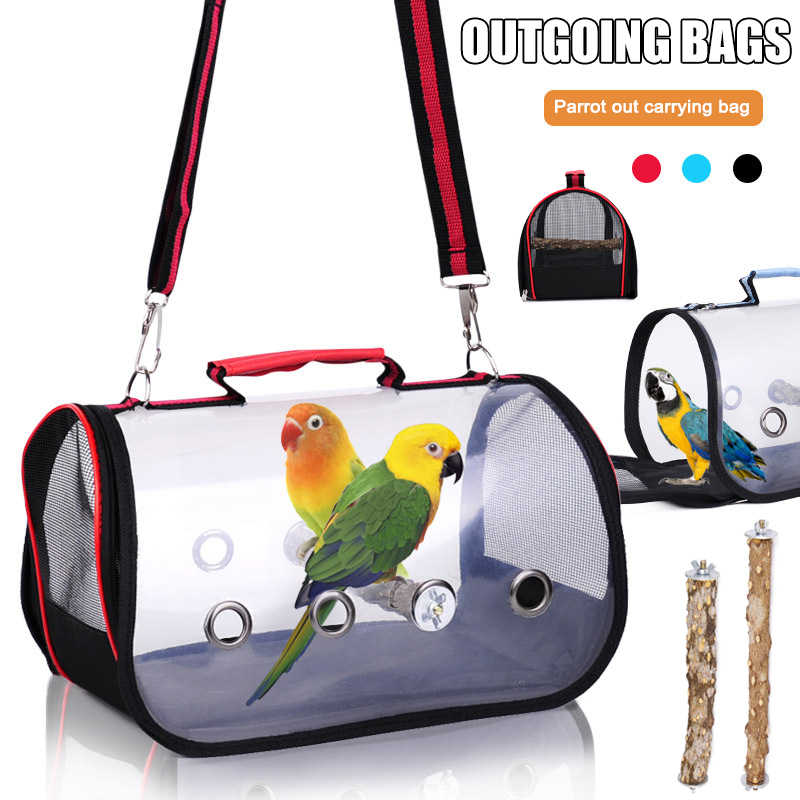 Vogels Outdoor Carrier Bag Transparante Ademend Papegaaien Handtas Vogels Reizen Kooi Lad-Koop