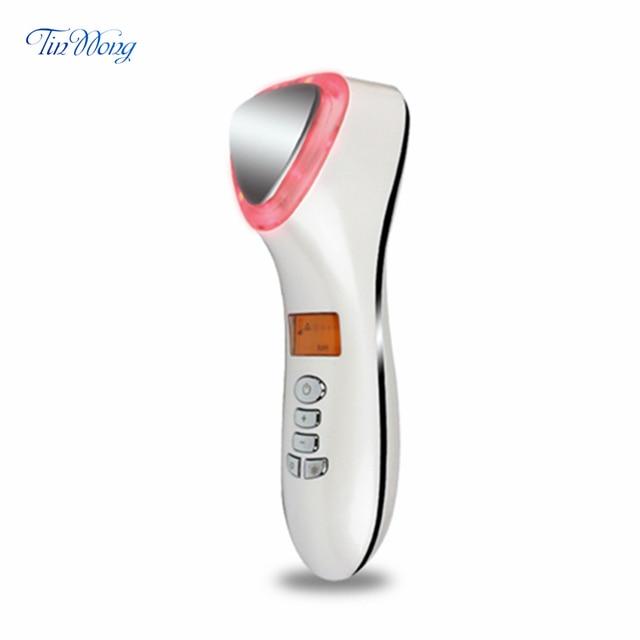 Ultrasone Cryotherapie Schoonheid Apparaat LED Hot Koude Hamer Facial Lifting Aanscherping Trillingen Stimulator Gezicht Lichaam Spa Gereedschappen