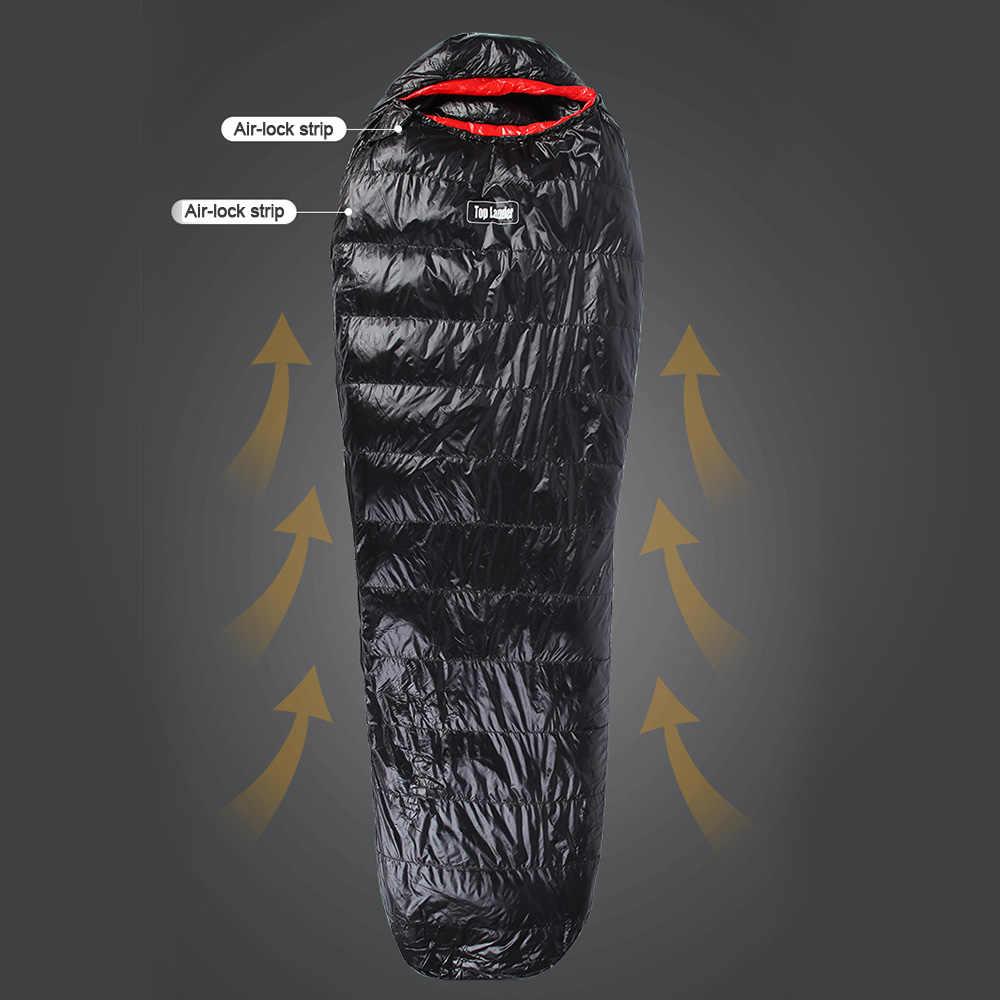 Hot Nieuwe Outdoor Winter Mummie Slaapzak Waterdicht Lichtgewicht Warm Camping Slaapzak Toerisme Backpacken Thermische Slapen