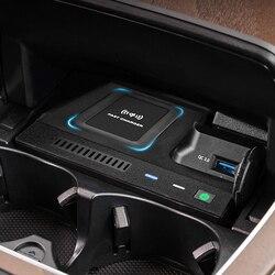 Беспроводное зарядное устройство QI 10 Вт для автомобиля, для Mercedes Benz W205 AMG C43 C63 AMG GLC 43 GLC63 X253 C Class GLC, аксессуары