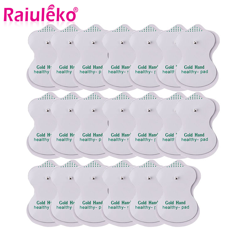 10/20pcs Tens Electrode Pads Conductive Gel Pad Body Acupuncture Therapy Massager Therapeutic Pulse Stimulator Electro Sticker
