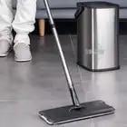 Elettrico ricaricabile Rotary Mop 360 gradi di Rotazione Senza Fili Floor Cleaner Scrubber Lucidatore di Pulizia di Microfiber Mop per la Casa - 5