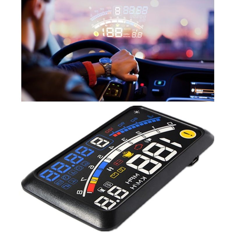 F4 HUD OBD2 Head-up Display Car Projector Headup Display Car Digital Speedometer Windshield Heads Up Car Display Car Electronic