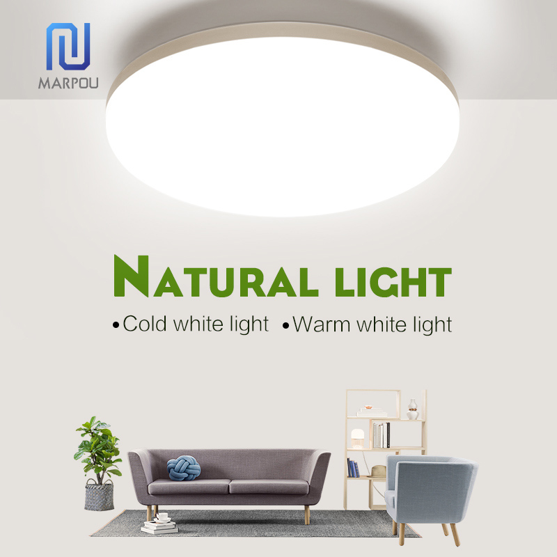 LED Light Home Modern Panel Light Ceiling Lamp Natural Light Warm White Cold White Round Square Living Room Bedroom Kitchen