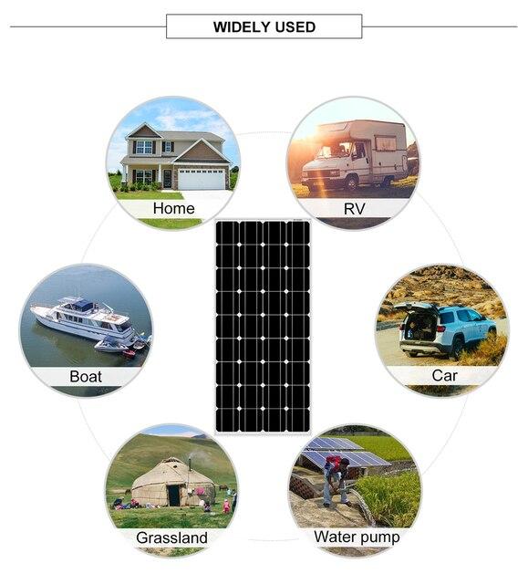 dokio 12в 100 вт жесткая солнечная панель китай 18в монокристаллическая фотография