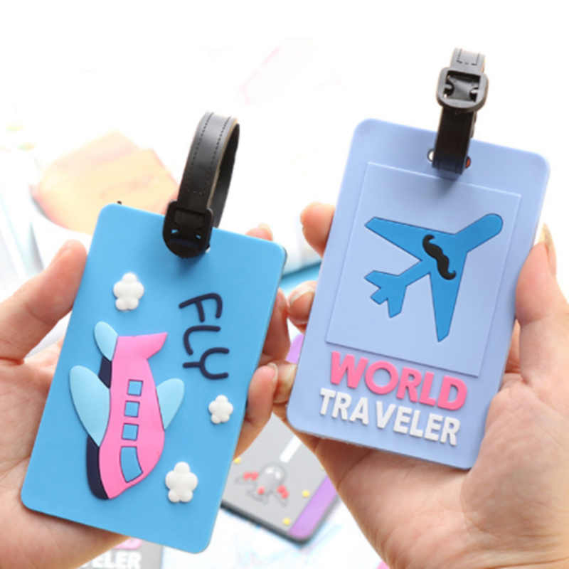 Leuke Rubber Koffer Bagage Tags Funky Reizen Id Adres Holder Label Bandjes Bagage Tassen Accessoires Drop Shipping