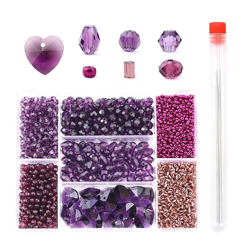 Venta al por mayor mezclado forma cuentas de cristal facetado cuentas de Austria encanto cuentas de vidrio cuentas espaciadoras sueltas para fabricación de joyería DIY