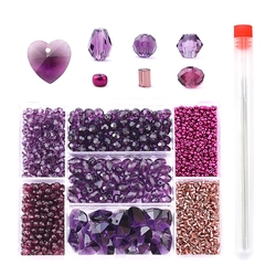 Wholesale mixed shape beads set Crystal beads Faceted Austria beads charm Glass Beads Loose Spacer Beads for Jewelry making DIY