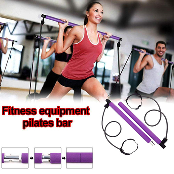 Pilates Bar Rod Resistance Bands Elastic Bands Workout 2 Colors Multifunctional Yoga Rally Rod For Fitness Gym Equipment