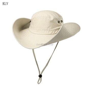 16cm de largo ancho ala mujeres hombres verano secado rápido pesca gorro de protección solar camuflaje al aire libre transpirable ajustable sombrero de cubo