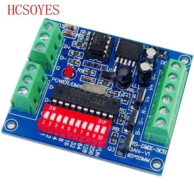 DMX 3CH BAN V1 3CH ערוץ DMX 512 LED מפענח בקר להשתמש עבור led הרצועה
