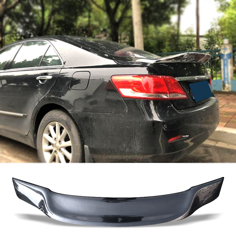 Car Trunk Spoiler Carbon Fiber FRP Auto Rear Trunk Wing R Style Refit Accessories Spoiler For Toyota Camry 2004-2011