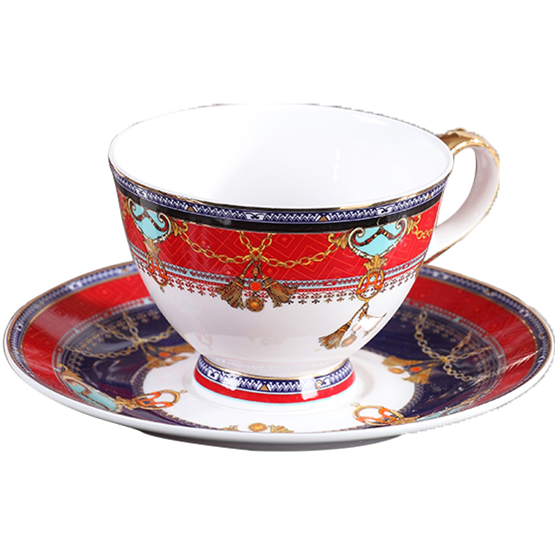 Luxury Ceramic Coffee Tea Cup Saucer Set Textured Porcelain Handpainted Espresso Cups Bone China Cup Tea Coffee Cups New MM60BYD