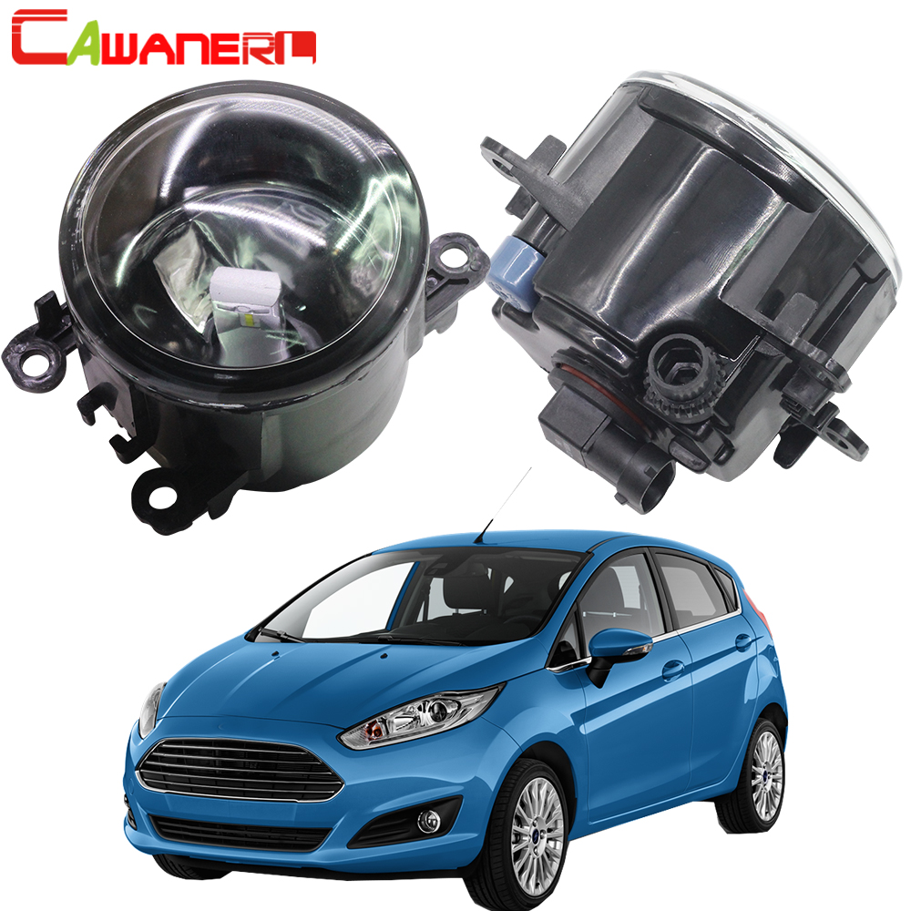 Cawanerl For 2001-2015 <font><b>Ford</b></font> <font><b>Fiesta</b></font> Car <font><b>Accessories</b></font> Fog Light Assembly Lampshade + H11 LED / Halogen Lamp DRL 12V image