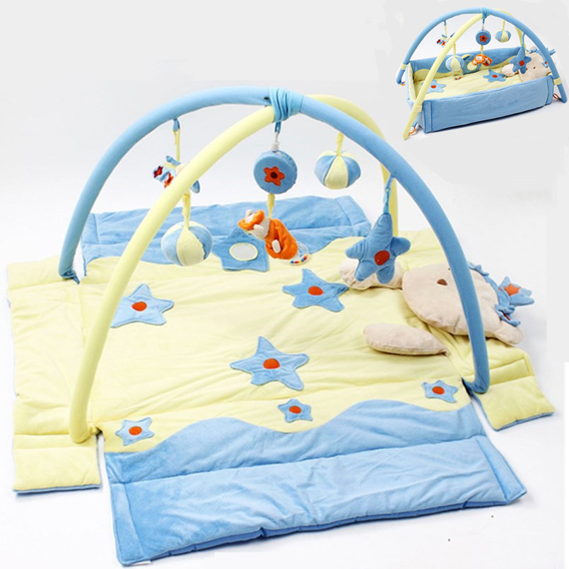 Multifunction Baby Activity Mat With Detachable Support Baby Bed Bell Musical Toys Sensory Training Baby Mattress Baby Play Mat