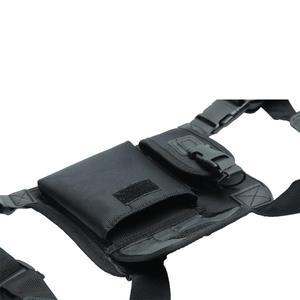 Image 5 - ABBREE Harness brust Vorne Packung Beutel Holster Tragen tasche für Baofeng UV 5R UV 82 UV 9R Plus BF 888S TYT Motorola Walkie Talkie