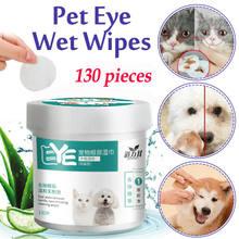 130 pces animais de estimação cães gatos limpeza toalhas de papel olhos toalhetes molhados rasgo mancha removedor suave não-intimando toalhetes aliciamento suprimentos