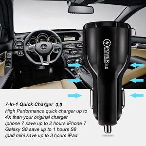 Image 3 - Araç şarj cihazı hızlı şarj 3.0 QC 3.0 hızlı şarj adaptörü çift USB araç şarj cihazı iphone mikro USB tipi C kablo telefon şarj cihazları