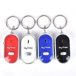 Smart Keyring Whistle Keychain Tracker Anti-Lost Finder Sound Control LED Key