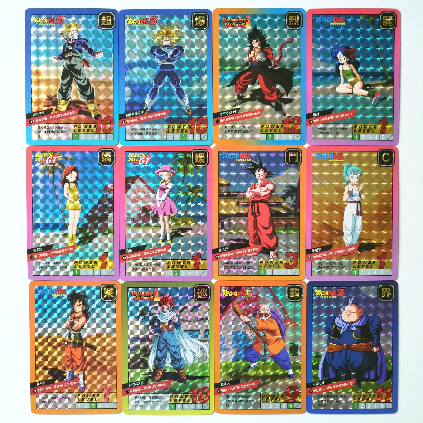 54pcs Super Dragon Ball Z Fight Heroes Battle Card Ultra Instinct Goku Vegeta Game Collection Cards