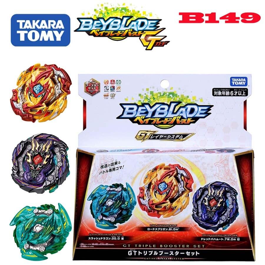Genuine tomy beyblade explosão gt B-149 royal giants jateamento giroscópio três conjuntos de brinquedos beybladeburst brinquedo de alto desempenho