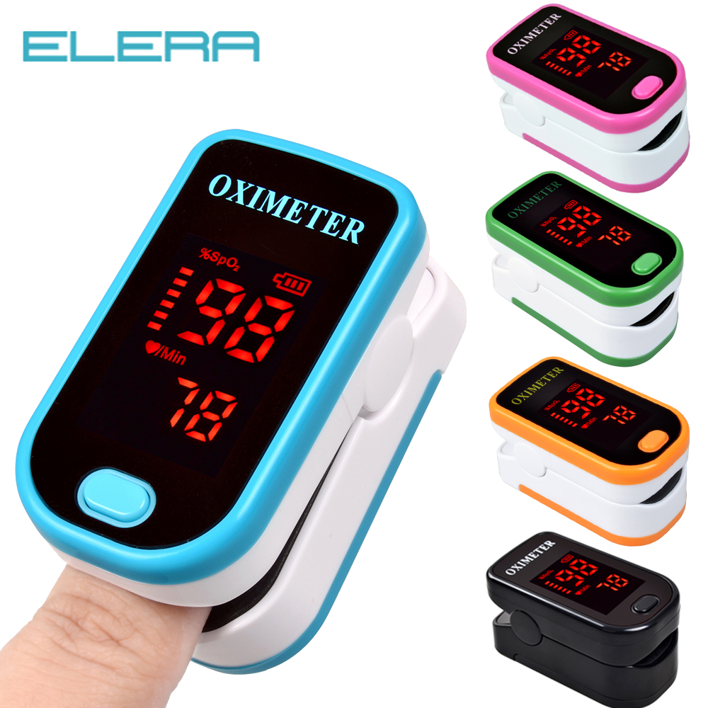 Nouveau!! Oxymètre de pouls doigt avec boîtier oxymètre du bout des doigts pulso de dedo LED oxymètres de pouls saturateur Pulsioximetro