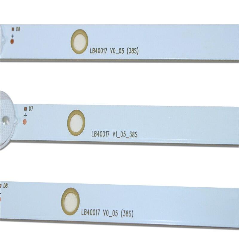 Image 2 - New 6 PCS 745mm LED backlight strip for LG vestel BUSH DLED40287FHD LB40017 V1_05 38S 17DLB40VXR1 VES400UNDS 2D N11Industrial Computer & Accessories   -