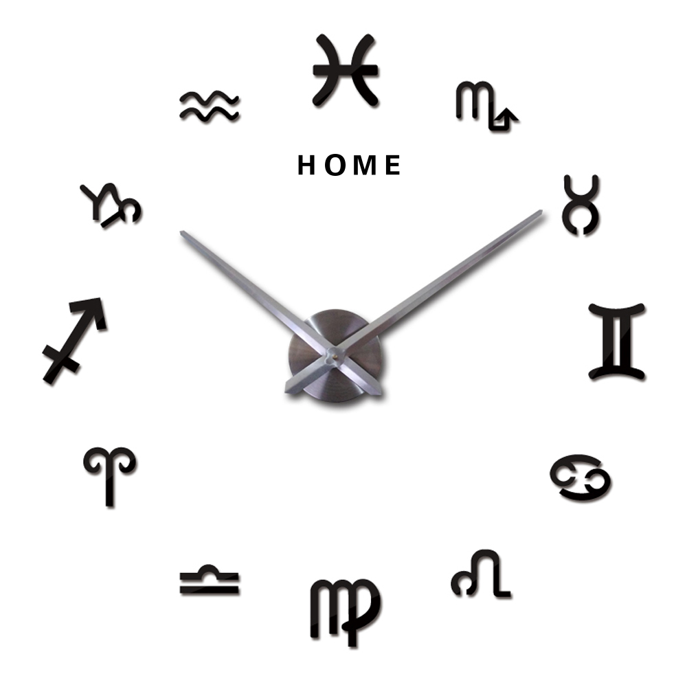 Constellation 3D DIY Large Wall Clock Sticker Acrylic Silent Decorative Self Adhesive Wall Clocks Modern Design Home Decor