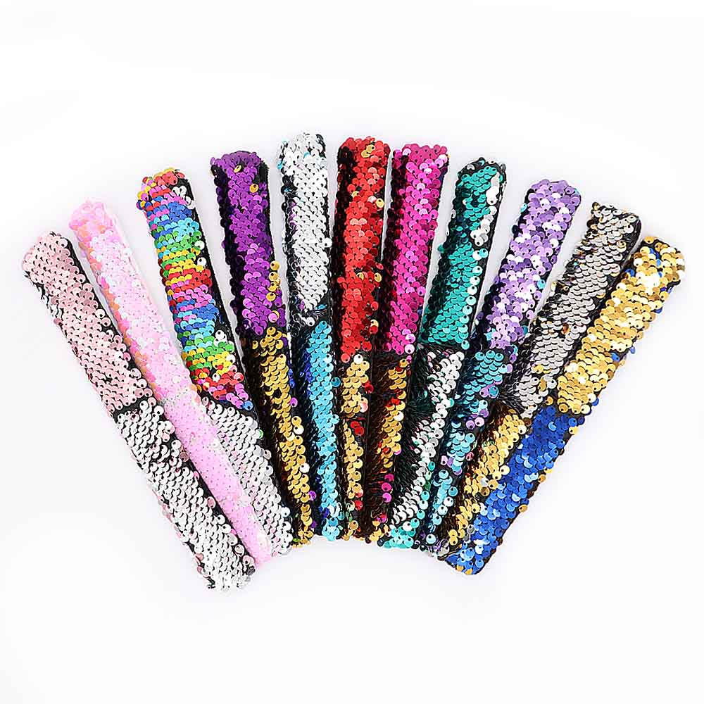 10PCS/<font><b>lot</b></font> Newest women <font><b>Jewelry</b></font> Sequins Snap Button Bracelet Simple Cuff Snap Bracelets For Women Children <font><b>Fun</b></font> Gift image