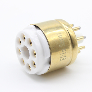 8pin EL34 GZ34 KT88 6V6 6L6 5Z3 6SN7 Octal Gold Plated Tube Socket Saver Base 2 silver gold cnc machined aluminum cv181 6ca7 6n9p 6sn7 tube pre amplifier decorating base ring