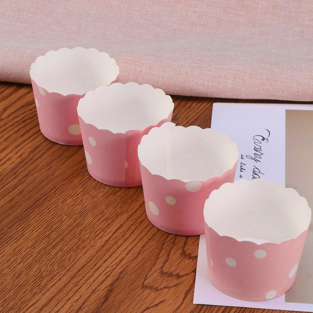 50 шт. для края торта, обертки, креативные бумажные чашки для выпечки кексов, подкладка для торта для свадебной вечеринки (Размер M, баллы)