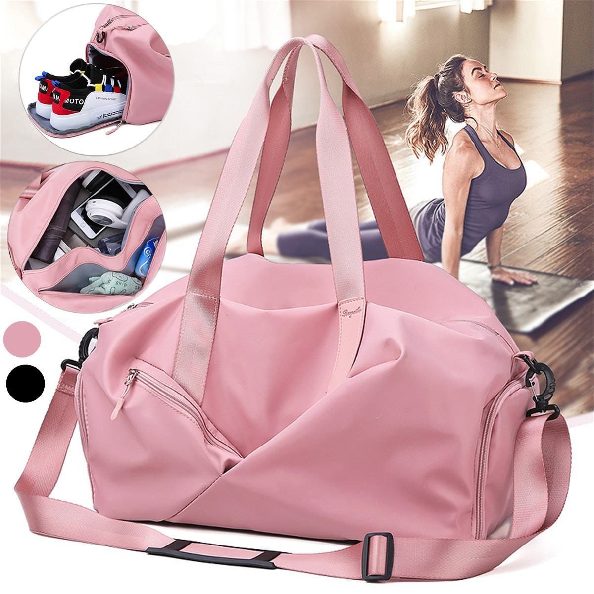 Men Women Gym Bag Sport Fitness Bag Multifunctional Tote Yoga Gym Bags For Shoes Storage Dry/Wet Outdoor Travel Bag Sac De Sport