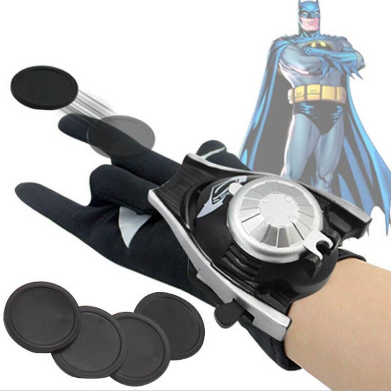 5 стилей ПВХ 24 см Бэтмен перчатка Фигурка Человека-паука пусковая игрушка для детей подходит Человек-паук косплей игрушки - Цвет: Batman