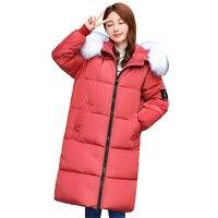 Jacket for winter women 2019 large fur collar cotton padded warm thicken plus size 7XL winter coat women parka outwear female